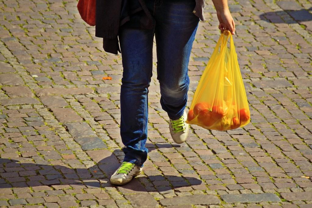 plastic, bag, pollution