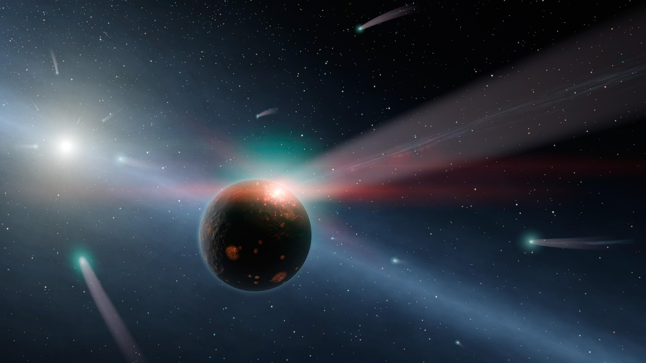 comets, earth, space