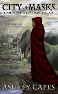 City of Masks cover, curtsey of Ashley Capes.