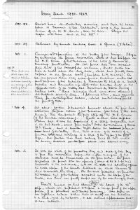 Howard Carter's journals from Egypt detailing his find of the King Tut's grave. Digital copy of original documents can be found at the Griffith Institute.