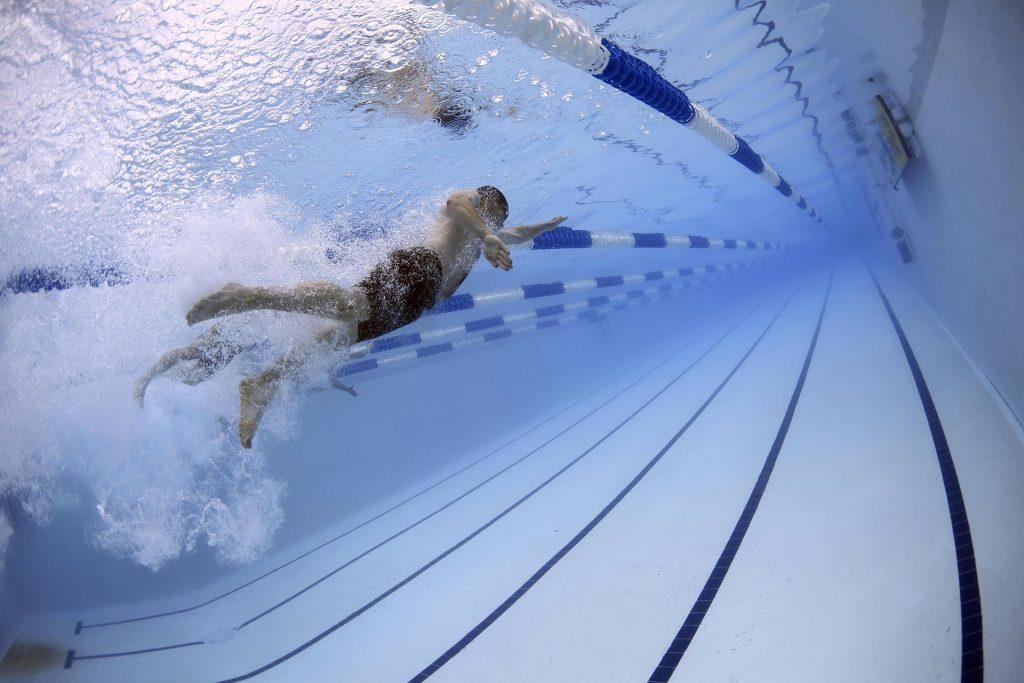 swim, swimming, pool, swimmers
