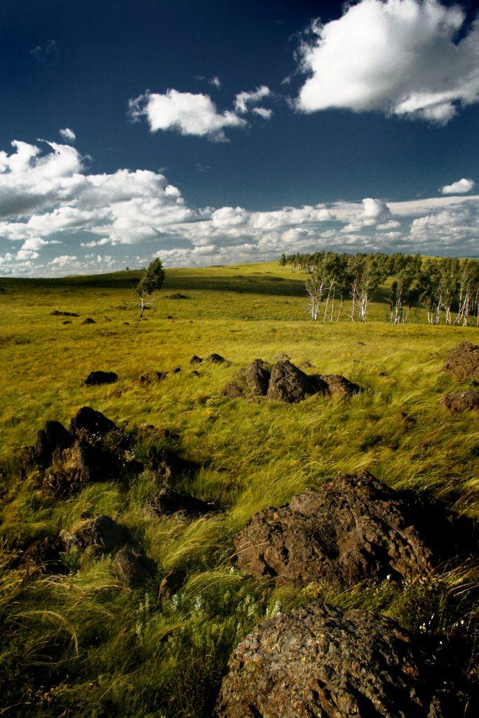 boulders, boulders in field