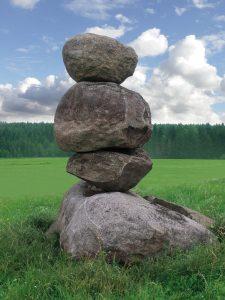 balance, rock pile