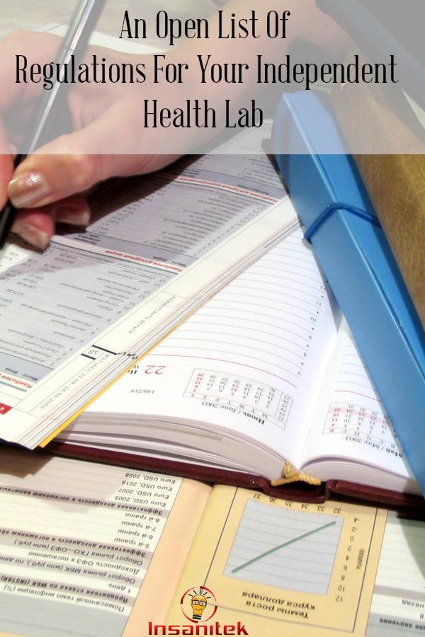 Health lab regulations, independent lab, list of regulations