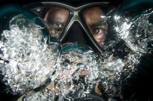 scuba, bends, compression, breathe out