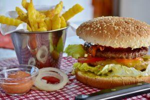 burger, fat, food