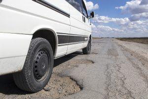 potholes, holes, asphalt