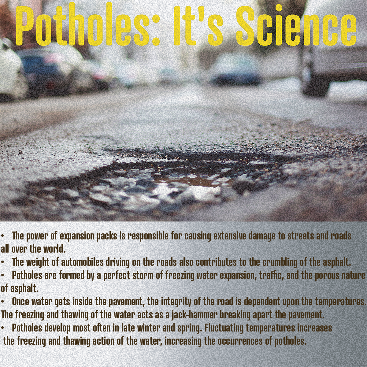 Pothole science, pothole