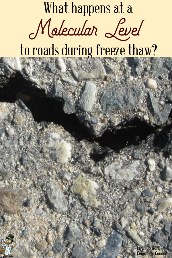 freeze thaw, pot holes, potholes, cement, breccia